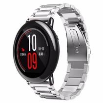 Metalen watchband met vlindersluiting voor de Xiaomi Huami Amazfit Pace - Zilverkleurig