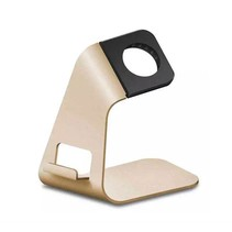 2 in 1 Aluminium Standaard / dock voor de Apple Watch - Goud