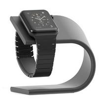 Elegante Aluminium Standaard / dock voor de Apple Watch - Donker Grijs