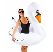 BigMouth Grote Zwemband Witte Zwaan Pool Float 1.2m