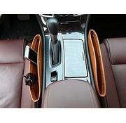 REBL Opbergvak / Organizer naast de autostoel - Bruin - Laat nooit meer wat onder de stoel vallen - 2 stuks