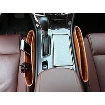 Opbergvak / Organizer naast de autostoel - Bruin - Laat nooit meer wat onder de stoel vallen - 2 stuks