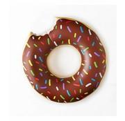 REBL Grote opblaasbare chocolade donut zwemband - 100 CM