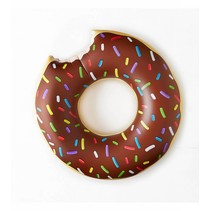 Grote opblaasbare chocolade donut zwemband - 100 CM