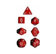 Chessex Dobbelstenen Set Opaque Polyhedral Red/White - 7 stuks