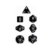 Chessex Dobbelstenen Set Opaque Polyhedral Smoke/White - 7 stuks