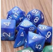 7-delige Polydice / dobbelstenen Set voor dungeons & dragons | Blauw | REBL