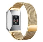 REBL Milanese polsbandje voor de Fitbit Ionic met magneetsluiting - Goud