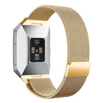 Milanese polsbandje voor de Fitbit Ionic met magneetsluiting - Goud