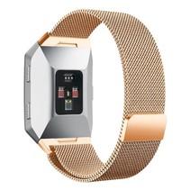 Milanese polsbandje voor de Fitbit Ionic met magneetsluiting - Rose Goud