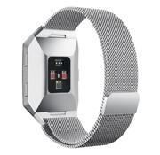 REBL Milanese polsbandje voor de Fitbit Ionic met magneetsluiting - Zilver