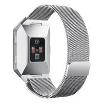 Milanese polsbandje voor de Fitbit Ionic met magneetsluiting - Zilver