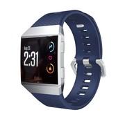 REBL Siliconen polsbandje voor de Fitbit Ionic met gespsluiting - Blauw