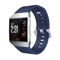 Siliconen polsbandje voor de Fitbit Ionic met gespsluiting - Blauw