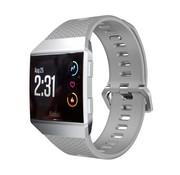 REBL Siliconen polsbandje voor de Fitbit Ionic met gespsluiting - Grijs