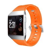 Siliconen polsbandje voor de Fitbit Ionic met gespsluiting - Oranje