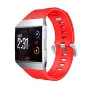 REBL Siliconen polsbandje voor de Fitbit Ionic met gespsluiting - Rood