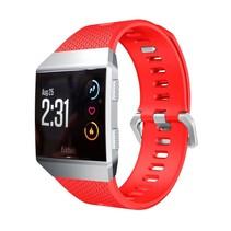 Siliconen polsbandje voor de Fitbit Ionic met gespsluiting - Rood