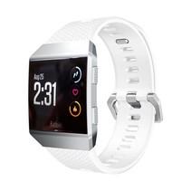 Siliconen polsbandje voor de Fitbit Ionic met gespsluiting - Wit
