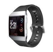 REBL Siliconen polsbandje voor de Fitbit Ionic met gespsluiting - Zwart