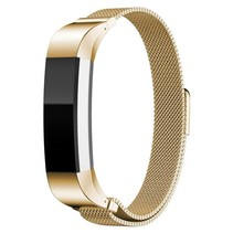 Milanese polsbandje met magnetische sluiting voor Fitbit Alta / Alta HR- Goud