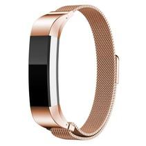 Milanese polsbandje met magnetische sluiting voor Fitbit Alta / Alta HR- Rose Goud