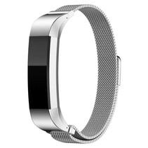 Milanese polsbandje met magnetische sluiting voor Fitbit Alta / Alta HR- Zilver