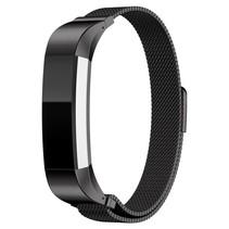 Milanese polsbandje met magnetische sluiting voor Fitbit Alta / Alta HR- Zwart
