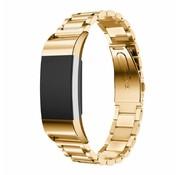 REBL Metalen armband / polsbandje voor Fitbit Charge 2 - Goud