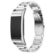 REBL Metalen armband / polsbandje voor Fitbit Charge 2 - Zilver