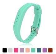 REBL Siliconen sportbandjes voor de Fitbit Flex 2 met gespsluiting - Turquoise / Mint