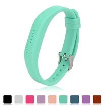 Siliconen sportbandjes voor de Fitbit Flex 2 met gespsluiting - Turquoise / Mint