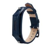 REBL Lederen armbandje voor de Fitbit Flex 2 met gespsluiting  - Blauw
