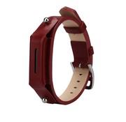 REBL Lederen armbandje voor de Fitbit Flex 2 met gespsluiting  - Bordeaux Rood