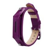 REBL Lederen armbandje voor de Fitbit Flex 2 met gespsluiting  - Roze