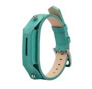 REBL Lederen armbandje voor de Fitbit Flex 2 met gespsluiting  - Turquoise / Mint