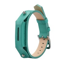 Lederen armbandje voor de Fitbit Flex 2 met gespsluiting  - Turquoise / Mint