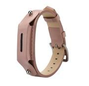 REBL Lederen armbandje voor de Fitbit Flex 2 met gespsluiting  - Zalm Roze