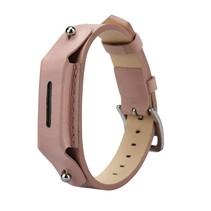 Lederen armbandje voor de Fitbit Flex 2 met gespsluiting  - Zalm Roze