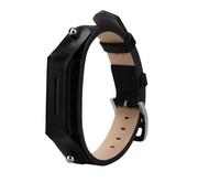 REBL Lederen armbandje voor de Fitbit Flex 2 met gespsluiting  - Zwart