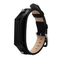 Lederen armbandje voor de Fitbit Flex 2 met gespsluiting  - Zwart
