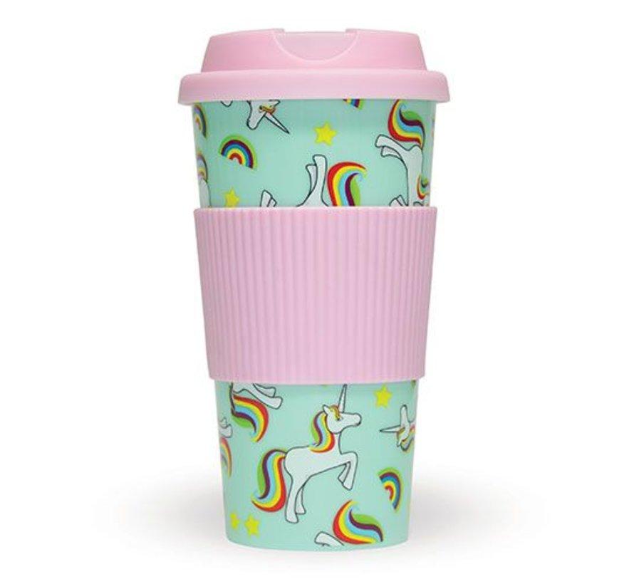 Unicorn Travel Mug 470 ml - Coffee to go mok