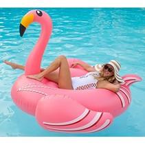 XXL Roze Opblaasbare Flamingo zwemband / luchtbed - 190 CM