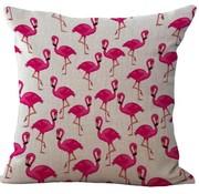 REBL Flamingo kussen hoes | 45 x 45 cm | Sierkussen kussenhoes | REBL