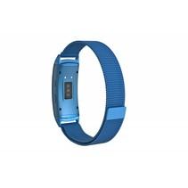 Milanese horloge bandje met magneetsluiting voor Samsung Gear Fit 2 - Blauw