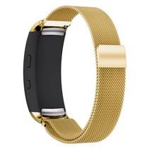 Milanese horloge bandje met magneetsluiting voor Samsung Gear Fit 2 - Goud