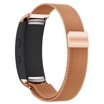 Milanese horloge bandje met magneetsluiting voor Samsung Gear Fit 2 - Rose Goud
