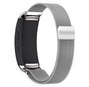 REBL Milanese horloge bandje met magneetsluiting voor Samsung Gear Fit 2 - Zilver