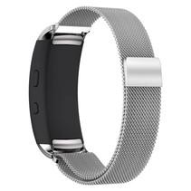 Milanese horloge bandje met magneetsluiting voor Samsung Gear Fit 2 - Zilver