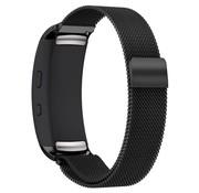 REBL Milanese horloge bandje met magneetsluiting voor Samsung Gear Fit 2 - Zwart